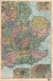 ENGLAND EAST: inset Sheffield Birmingham & London. BACON, 1896 antique map